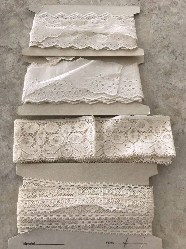 Lot of 4 Vintage Lace and trims