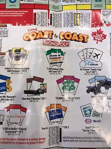 MONOPOLY GAME STICKERS