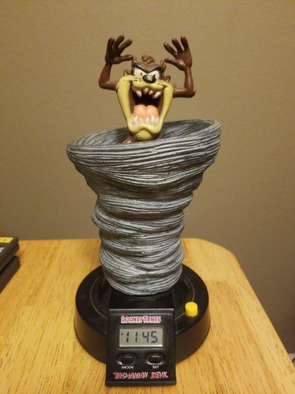Vintage 1993 Looney Tunes Tasmanian Devil Tornado Pop-Up Talking Alarm Clock
