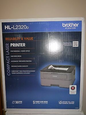 Brand New Brother HL-L2320D Compact Mono Laser Printer with Toner
