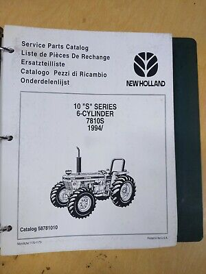 New Holland 10 S Series 6-cylinder 7810s 1994 Service Parts Catalog