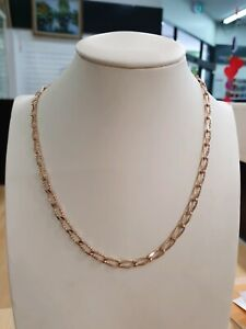 9k yellow gold curb link chain