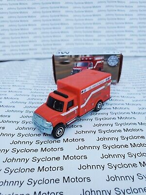 MATCHBOX INTERNATIONAL TERRASTAR AMBULANCE EMERGENCY VEHICLE RED IN BOX