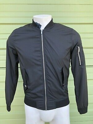 NWT ZARA Bomber Jacket sleeve pockets black LIGHTWEIGHT Size Small S $79 #478