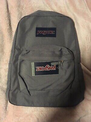 JANSPORT Super Break Backpack School Bag - Grey(other colours Black & Navy Blue)