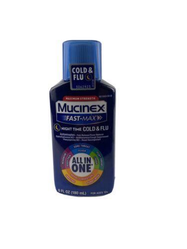 Mucinex Fast Max Medicine Night Time Cold Cough Flu All In O
