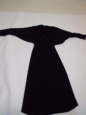 Girls long black dress kuftan caftan abaya gown 1 year tag size 30 free ship