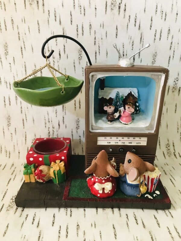 Yankee Candle Twas The Night Before Christmas Mouse TV Hanging Tart Warmer Rare