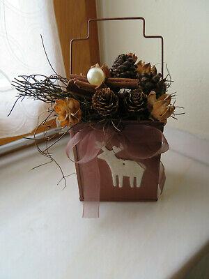 Weihnachtsdekoration - Tischdekoration für Weihnachten - Advent - Zapfen -Hirsch