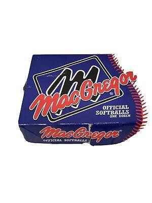 Macgregor Softball  One Dozen
