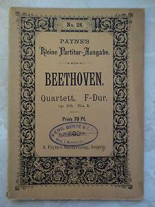 Beethoven: Quartett F-Dur op. 59 Nr. (Kl.Partiturausgabe/A. Payne s Leipzig) - Mürzzuschlag, Österreich - Beethoven: Quartett F-Dur op. 59 Nr. (Kl.Partiturausgabe/A. Payne s Leipzig) - Mürzzuschlag, Österreich