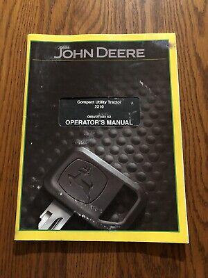 John Deere 2210 Compact Utility Tractor Omlvu14661 Operators Manual