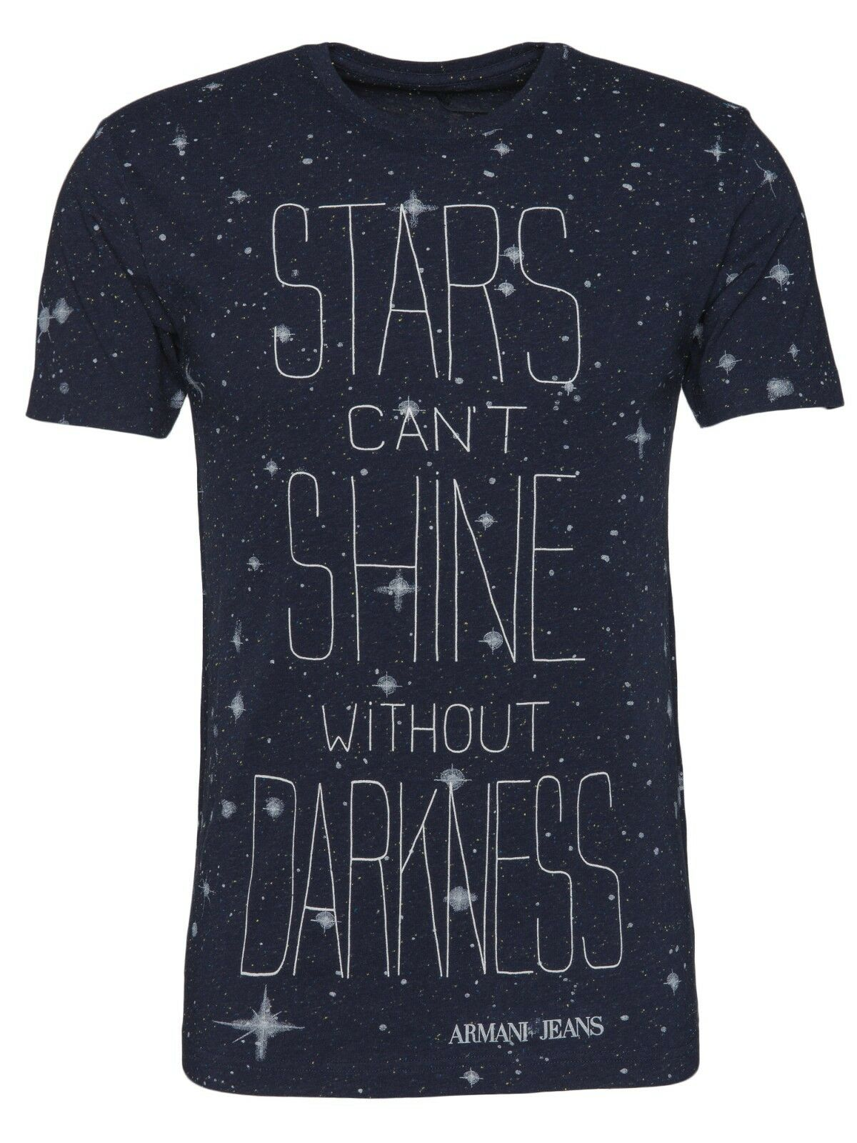 2d5e3b1465d5d Armani Jeans Mens Stars Can't Shine Without Darkness Blue t-shirt All Sizes