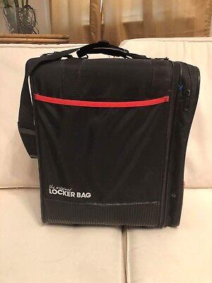 Ogio Original Locker Bag W  Strap Black Red Trim 3a312a3317ef5