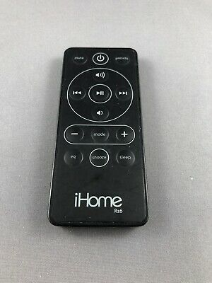 iHome Rz6 Remote Control for iHome Alarm Clock Radio Docks IP42 IP43 IP44 Black