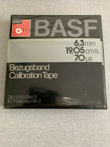 VERY RARE BASF CALIBRATION TAPE 19 CM CCIR IN PERFECT REMAINING CONDITION