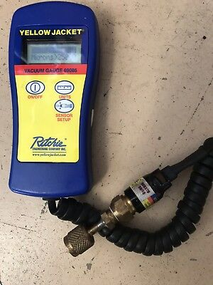 Yellow Jacket Hvac Digital Vacuum Gauge 69086 Case Sensor Free Shipping
