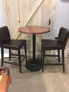 Bar table with chairs - MOVING must sell!!