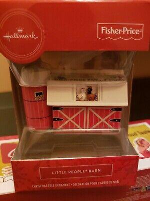 Hallmark 2019 Fisher Price Little People Barn Christmas Ornament Red Box