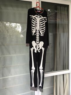 Kids skeleton onesie size 14