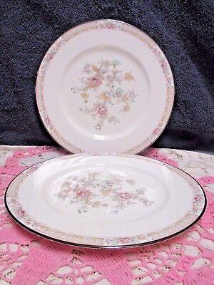 Noritake Imperial Garden Salad Plates 8 1 4  Bone China Flowers Set Of 2 Japan