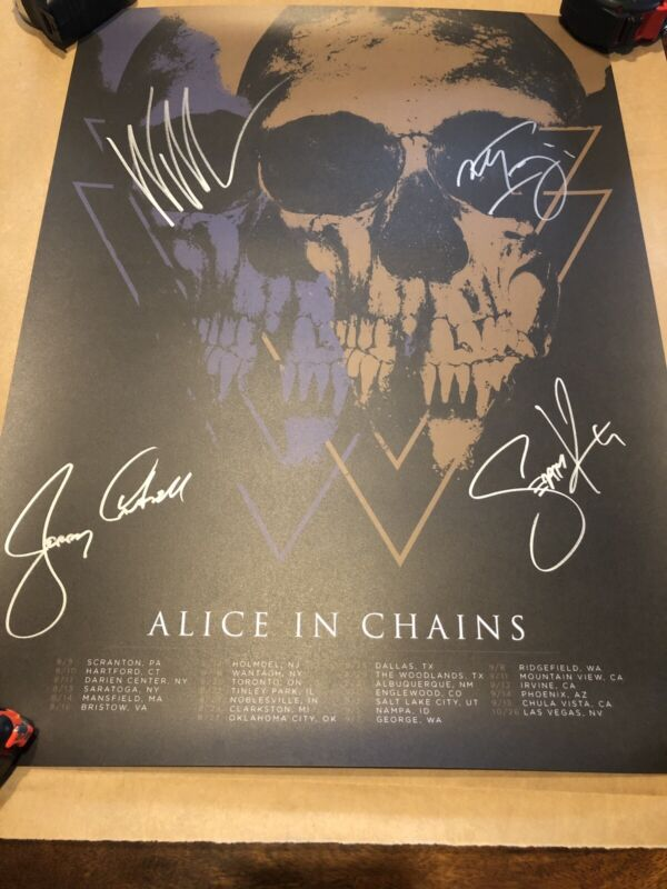 Alice In Chains Signed Autographed Lithograph Poster