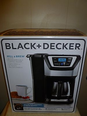 New Black & Decker Mill & Brew 12 Cup All in One Coffee Maker/Grinder CM5000B ()