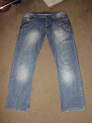 DSQUARED2 Men's STUDDED SKULL STRAIGHT 36 x 34 Designer Jeans Dsquared D2 Canada