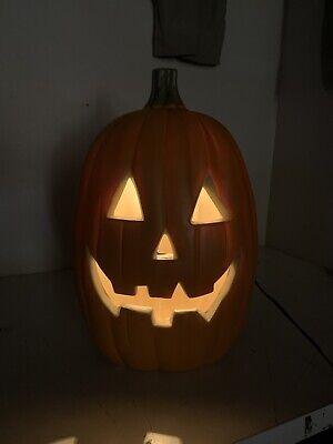 """Blow Mold Halloween Pumpkin. Lights up. Indoor or Outdoor. 16"""" Tall. ORANGE"""