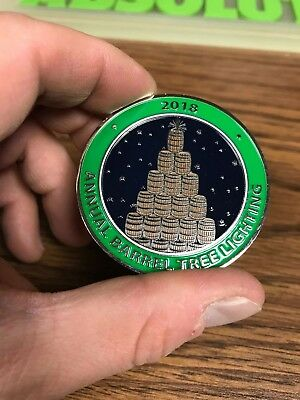 JACK DANIELS 2018 ANNUAL BARREL TREE LIGHTING COIN -NO GREEN GOLD LEM CORMAN  for sale  Shipping to Canada