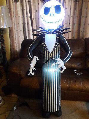 Life Size Jack Skellington Airblown Inflatable , Disney Infalable , Skeleton  (Disney Halloween Inflatable Yard Decorations)