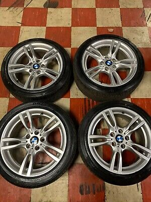 GENUINE BMW 3/4 SERIES 18 INCH 400M STAGGERED M SPORT ALLOY WHEELS & NEW TYRES