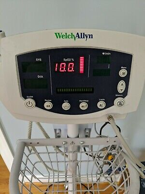 Welch Allyn 53nto Vital Signs Monitor 300 Series Spo2 Temp Nibp Probes Cart Md