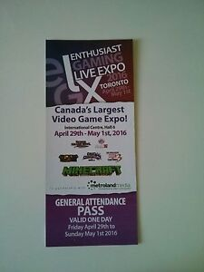 General attendance pass to Toronto gaming live expo