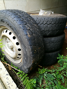 Tyres and rims x 4 Bilambil Heights Tweed Heads Area Preview