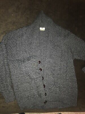 Carraig Donn Women's Size Large Wool Irish Ireland Button Front Sweater Gray