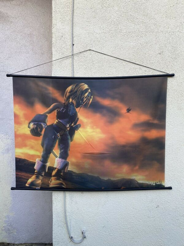 Zidane Wall Scroll - Final Fantasy IX / Original 2000 Print / Vintage