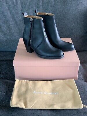 Acne Studios Pistol Boots Leather BNWT Sz 35