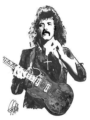 Tony Iommi Black Sabbath Guitar Rock Music Print Poster Wall Art 8.5x11 - $11.99