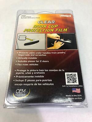 TRIMBRITE #T9026 Door Cup Protection Film, Clear - 2pks (11F1-012)