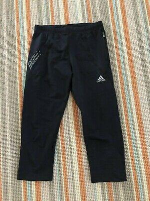 Women's Adidas Black Cropped/Capri Gym/Running Leggings - Size UK 10 V.G.C