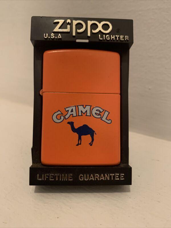 CAMEL OUTDOOR Matte Orange Lighter (Zippo, 1991) UNUSED IN BOX