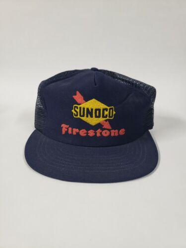 Vintage Sunoco Firestone Snap Back Trucker Hat, Made in U.S.A.