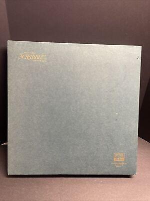 SCRABBLE Deluxe Edition Revolving Game Board 100% COMPLETE! Vintage 1977