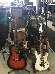 Plusieur guitare électrique et acoustique usagée à vendre