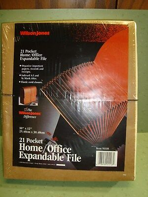 New In Package Wilson Jones 91118 Home Office Expandable File 10x 12 Index