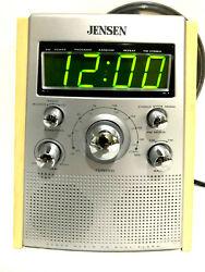 Jenson JCR-560 Dual Alarm Clock AM/FM Radio Stereo CD Player