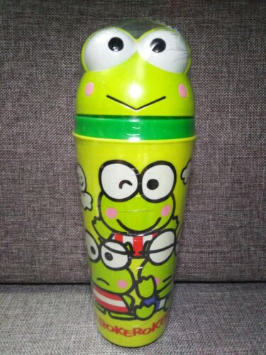 "Kero Keroppi Frog Sanrio Cold Drink​ Cup 9"" Tumbler New Sealed"