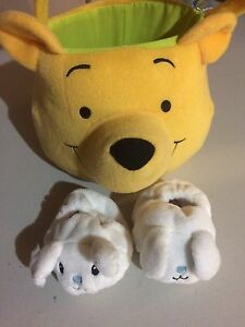 Winnie the Pooh Easter Basket and Baby Boys Rabbit Slippers