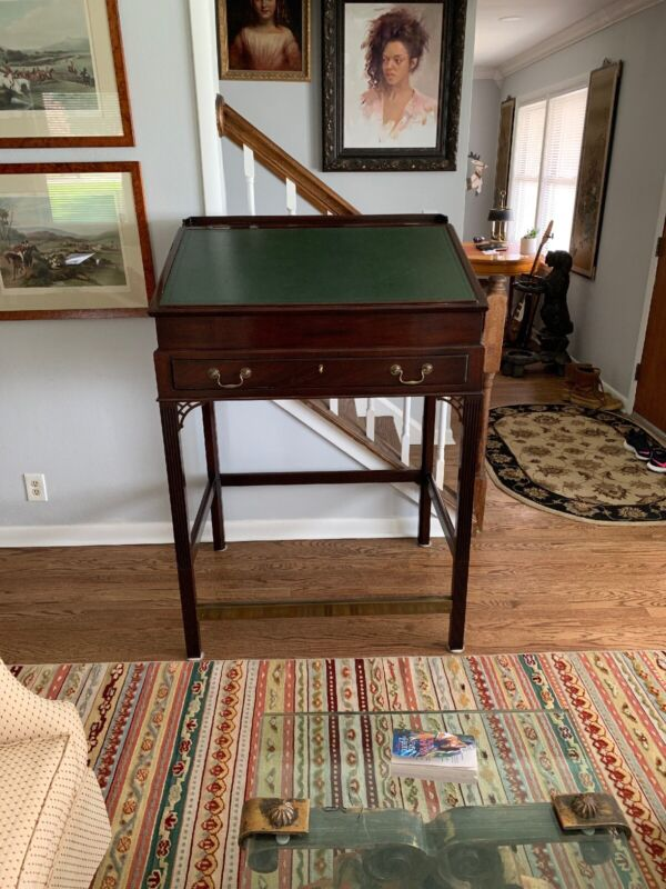 KITTINGER Standing Leather Top Mahogany Drafting OR Architects Desk